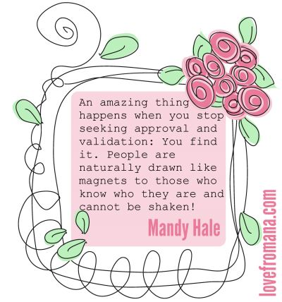 An amazing thing happens when you stop seeking approval