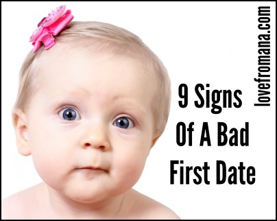 9 Signs of a Bad First Date