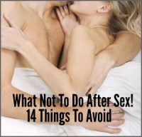 Article Series What Not to Do After Sex