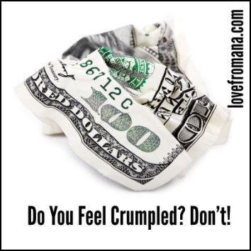 Do you feel crumpled? Don't!
