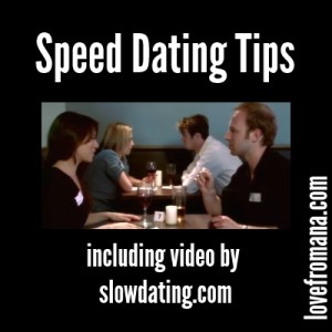 Speed dating tactics