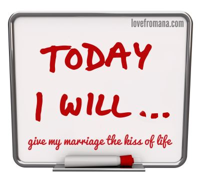 Today I will give my marriage the kiss of life